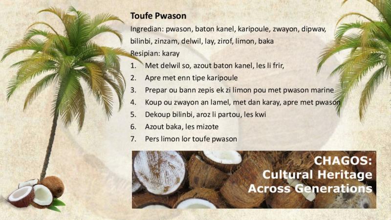 Toufe Pwason recipe
