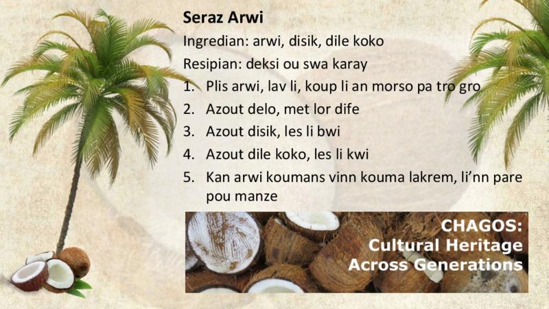 Seraz Arwi recipe