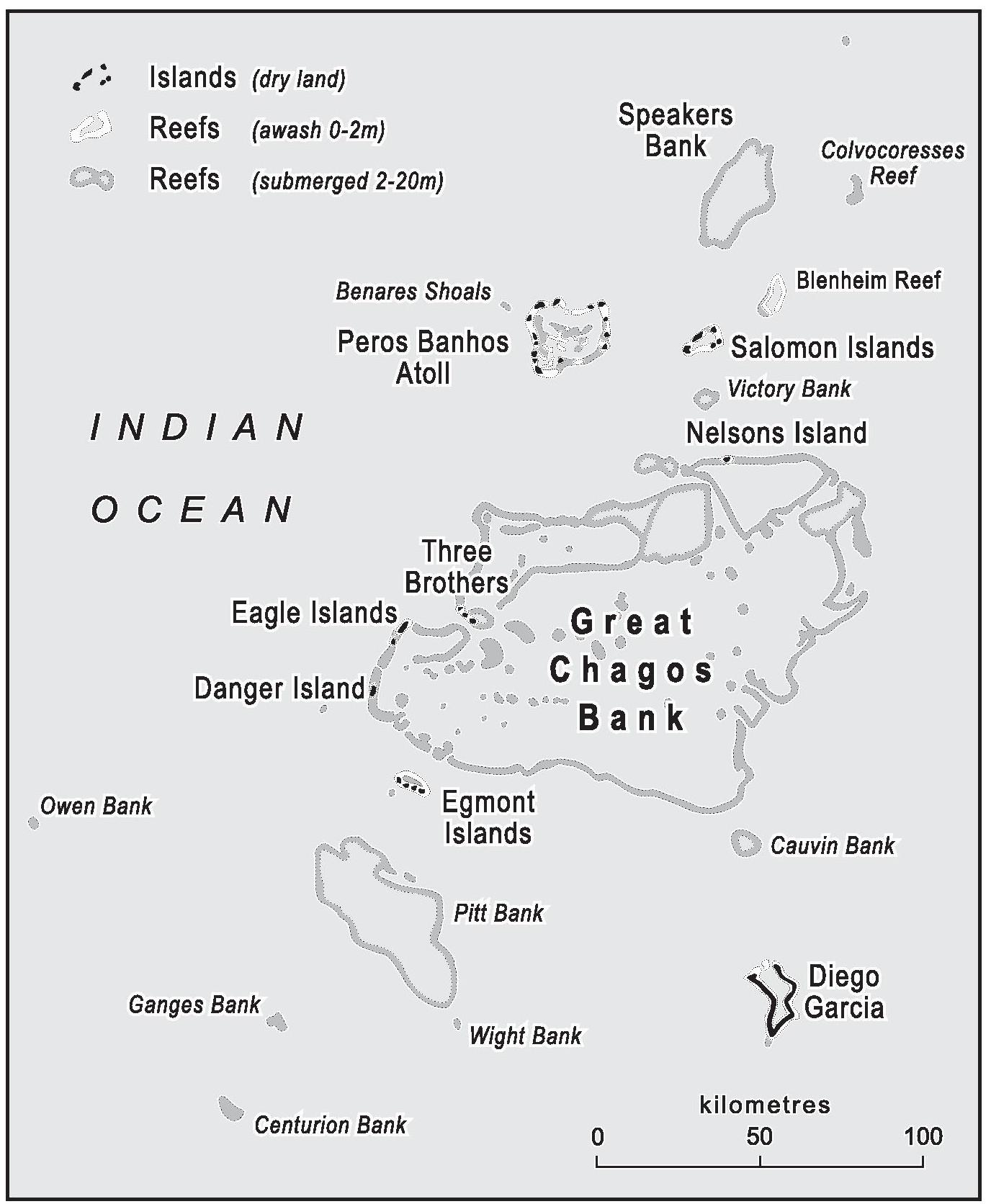 Map of the Chagos Archipelago