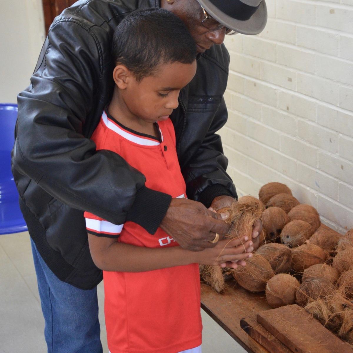 Coconut dehusking lesson 3